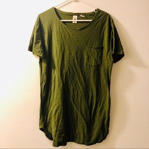 Men's UO Urban Outfitters Olive scoop t-shirt